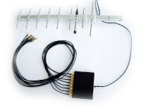 GSM-combiner (splitter) 8-in-1 with directional YAGI-antenna